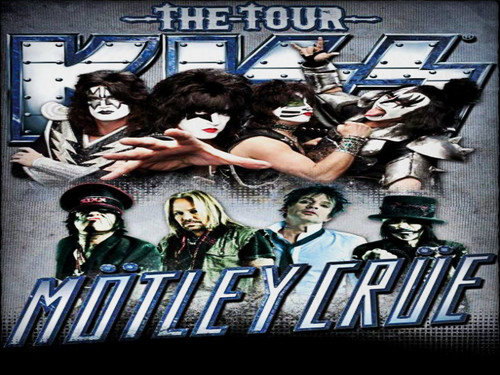  KISS &amp; Motley Crue  - musicians-in-makeup Wallpaper