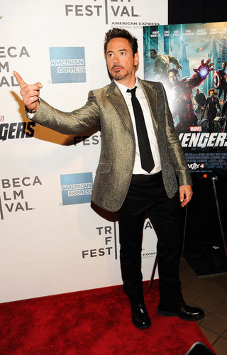"Robert Downey Jr. wallpaper containing a business suit and a well dressed person entitled ""The Avengers"" Premiere"