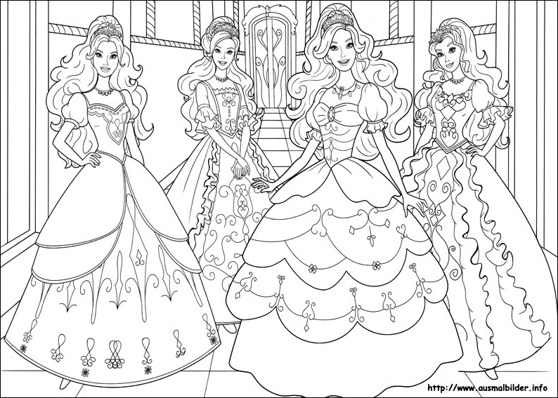 Barbie and the three musketeers 3ms coloring page