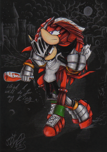 Sonic Shipping.... karatasi la kupamba ukuta with anime titled A drunken Knight~ (Shadow x Knuckles)
