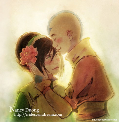 Aang and Toph - avatar-the-last-airbender Fan Art