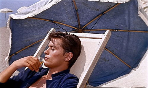 알랭 들롱 바탕화면 probably with a tepee titled Alain Delon