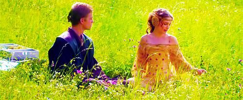 Anakin and Padme 壁紙 possibly with a grainfield entitled Anakin&Padme