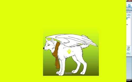 Angel, the light spirit بھیڑیا