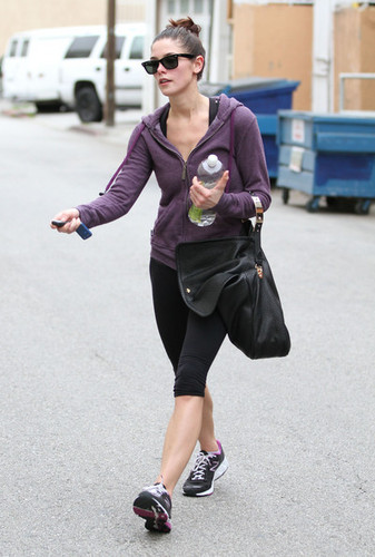 Ashley Greene Leaving A Gym In Studio City - ashley-greene Photo