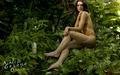Ashley Greene: SoBe Skinsuit 2010 (Orange)