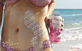Ashley Greene: SoBe Skinsuit 2010 (Pink)
