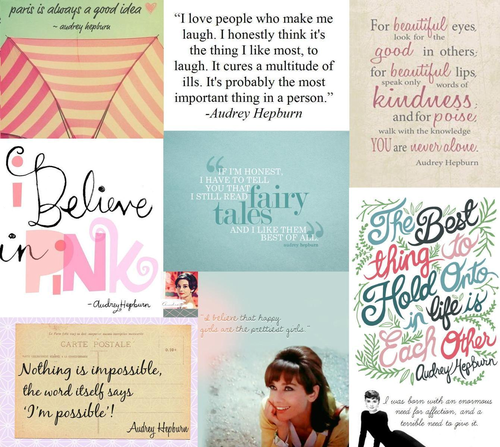 Audrey Hepburn Quotes Colloge