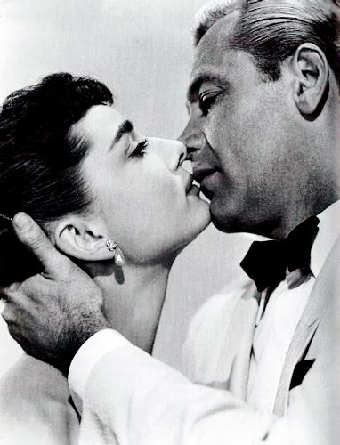 Sabrina (1954) wallpaper entitled Audrey and William Holden in Sabrina