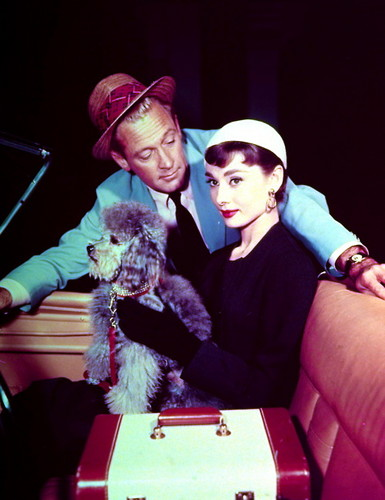 Sabrina (1954) wallpaper titled Audrey and William Holden