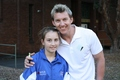 BRET LEE WITH FAN - cricket-world photo