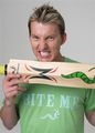 BRETT LEE WITH BAT