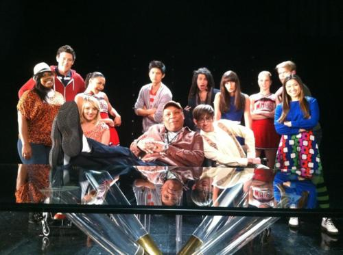 BTS of Dance With Somebody - glee Photo
