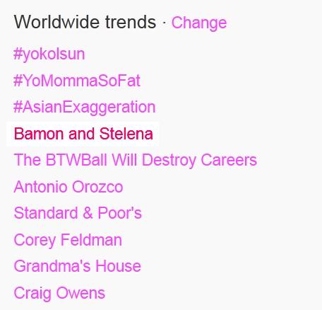 Bamon and Stelena is Trending!