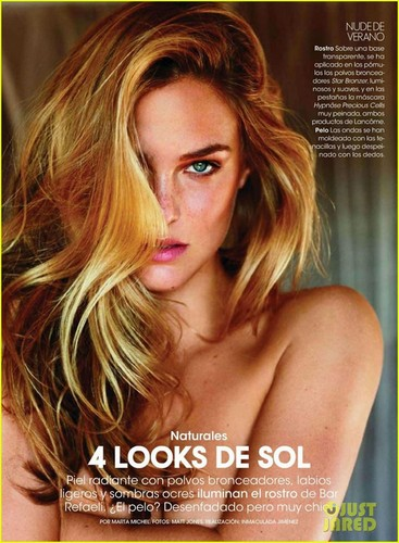 Bar Refaeli: Topless for 'Spanish Elle'!