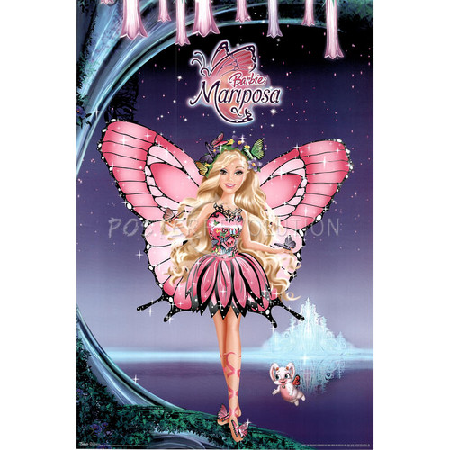 Barbie Mariposa - Art Poster