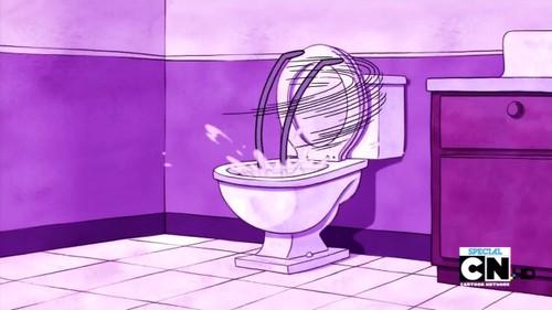 Benson gets flushed