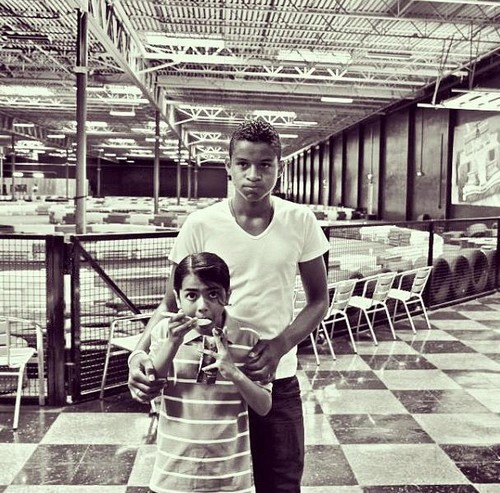 Blanket Jackson and his cousin Jaafar Jackson
