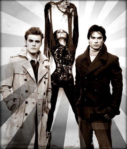 Bonnie Shine With Stefan/Damon!!!