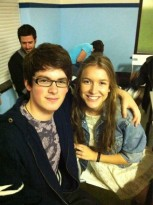 Brad abd Nathalia on the set - the-house-of-anubis Photo