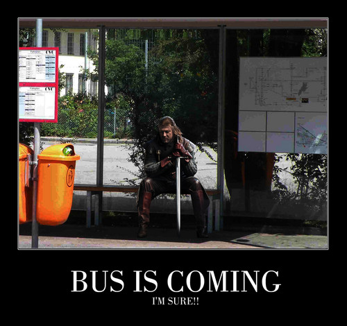 Bus is coming