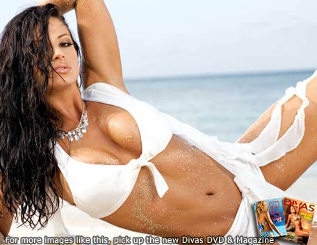 Candice Michelle Hintergrund containing a bikini entitled Candice Michelle Photoshoot Flashback