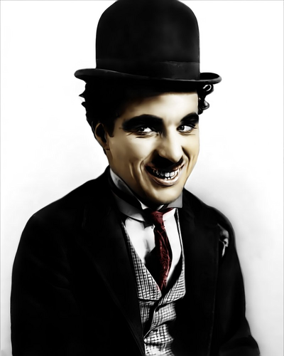 Charlie Chaplin karatasi la kupamba ukuta with a business suit called Chaplin