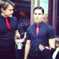 Chord and Darren on set filming Nationals