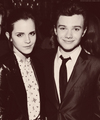 Chris Colfer and Emma Watson