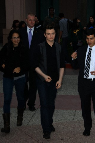 Chris Colfer at the Glee Tv Academy Screening
