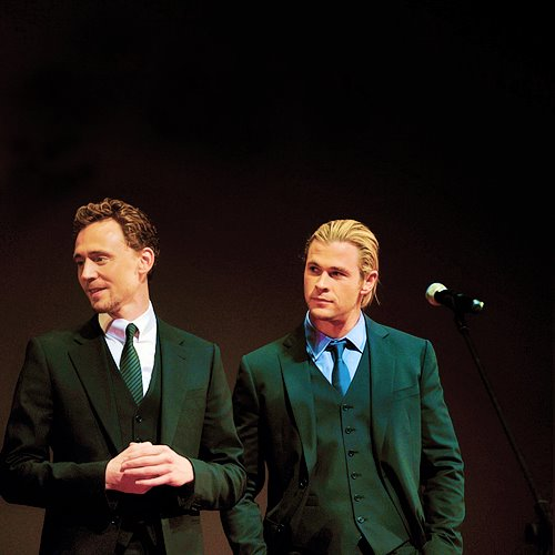 Tom Hiddleston images Chris Hemsworth and Tom Hiddleston ...