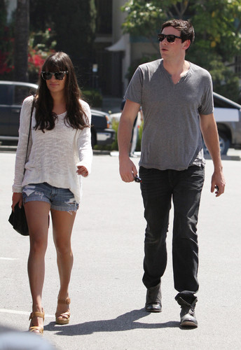 Cory Monteith images Cory & Lea Having Lunch Together in Los Angeles on April 20-2012 wallpaper and background photos