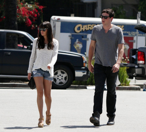 Cory & Lea Having Lunch Together in Los Angeles on April 20-2012