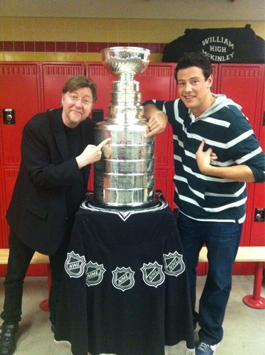 Cory and Brad with Stanley Cup - glee Photo
