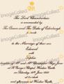 Countess Sophie and Prince Edward Wedding invitation - british-royal-weddings photo