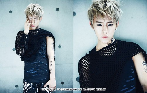 B.A.P fondo de pantalla probably containing an outerwear, a playsuit, and a parte superior, arriba called Daehyun POWER
