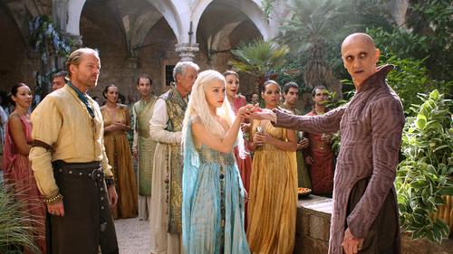 Daenerys and Jorah with Qartheen