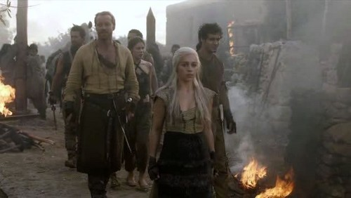 Dany and Jorah with Dothraki