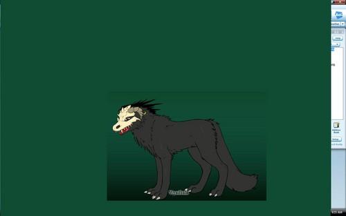Darkness, the lone بھیڑیا