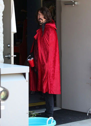 Dave Grohl In Costume for Kid's Birthday Party