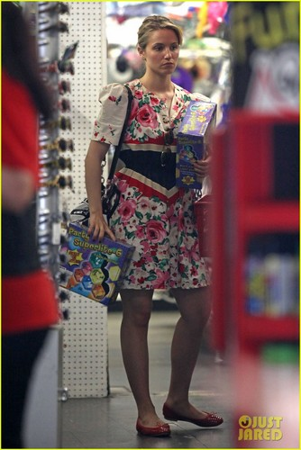 Dianna Agron: Party Supplies Shopping