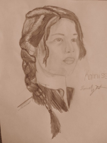 Drawing of Katniss Everdeen