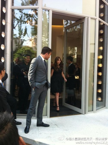 Ed and Leighton in China ♥ Harry Winston