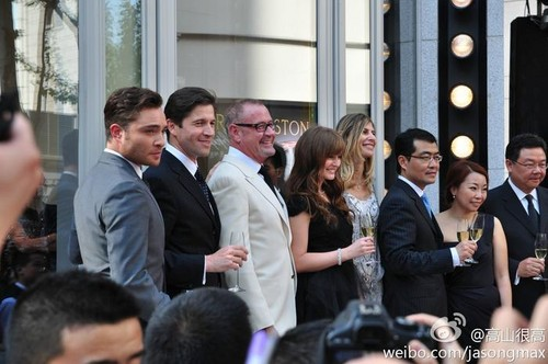 Ed in China for Harry Winston / 27.04.2012