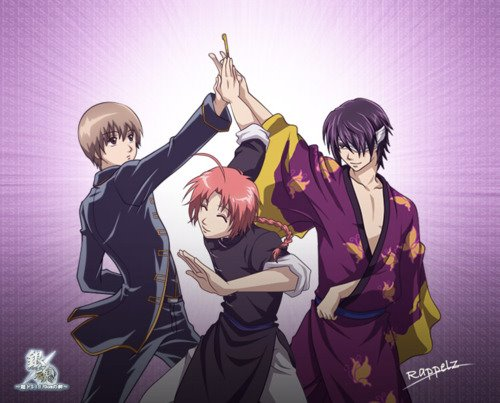 gintama wallpaper probably containing animê entitled Evil trio XD