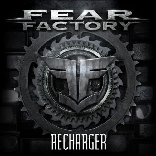 Fear Factory wallpaper probably containing an escutcheon and a fleur de lis entitled Fear Factory Recharger