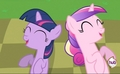 Filly Twilight and Cadance Laughing