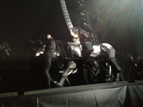Gaga opening the BTW Ball on a horse