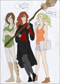 Ginny, Katniss, and Annabeth - crossovers fan art