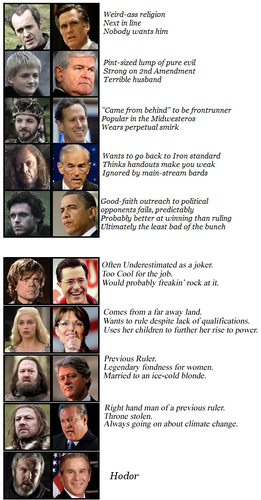 GoT Characters & USA politicians - game-of-thrones Fan Art